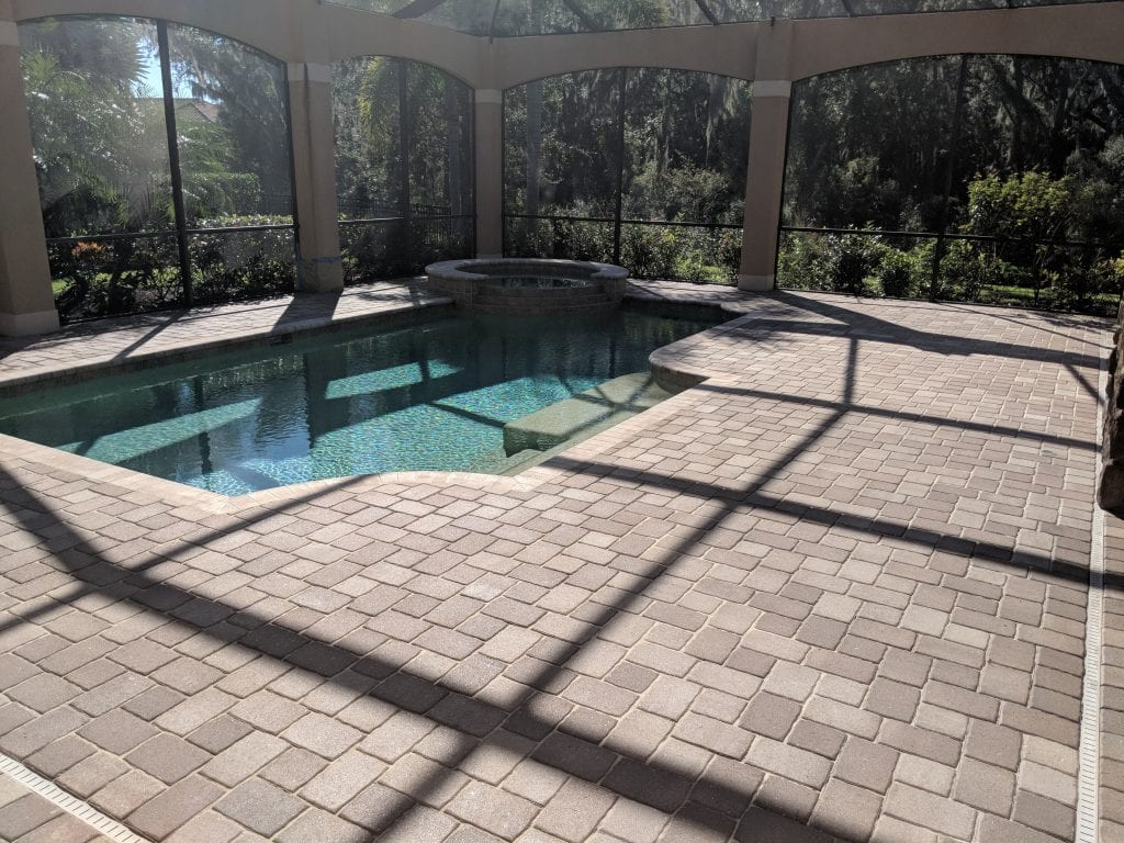 Sealed Pool Paver Bricks
