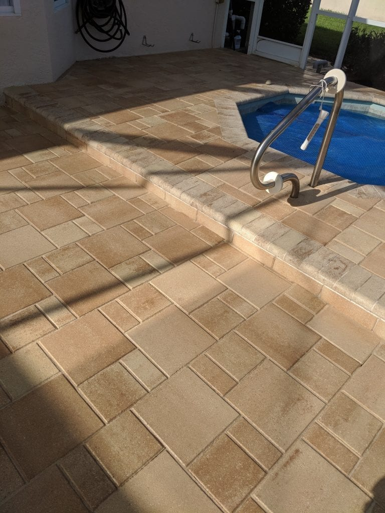 Pool Area Sealed Pavers