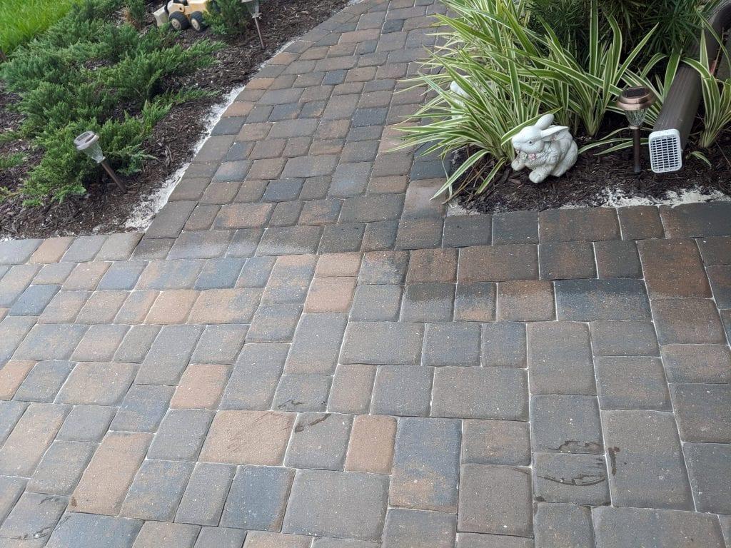 Sarasota Paver stone concrete sealing example
