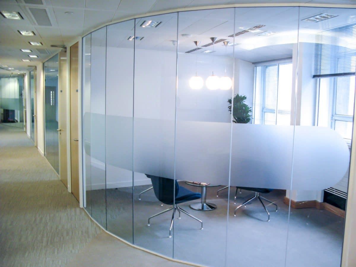 decorative window film in office